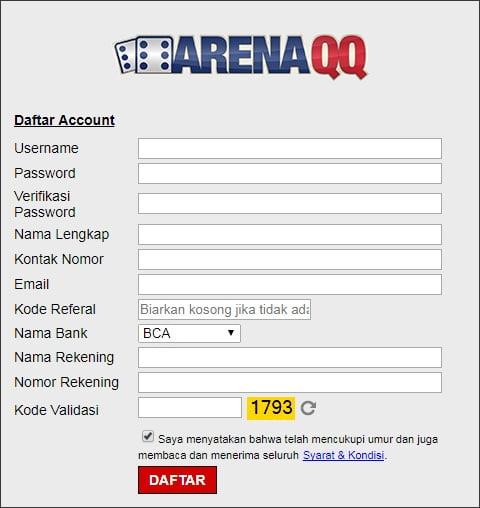 form pendaftaran situs poker bri