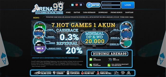 situs bri poker arena99