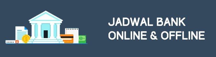 Jadwal Bank Offline Online