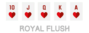 urutan kartu royal flush