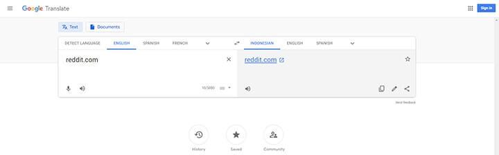 cara membuka internet positif melalui google translate
