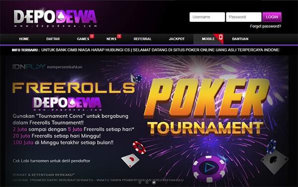 situs poker online terpopuler depodewa
