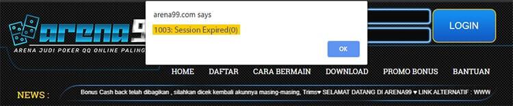 error session expired web